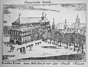 Friedenskirche Zum Heiligen Geist Jawor, aus Friedrich Bernhard Werner: Schlesische Bethäuser (1748 - 52)